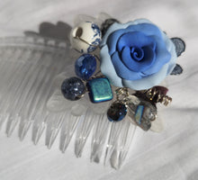 Beaded hair comb, accessory, bridal fashion, prom, handmade