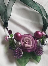 small cluster garland necklace