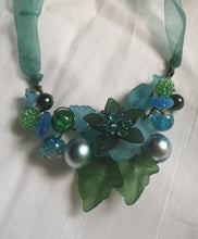 oceana, cluster garland necklace