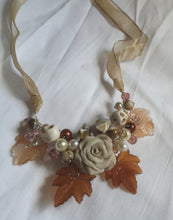 coffee cluster garland necklace