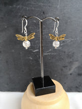 silver earwires golden snitch earrings