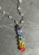 wire wrapped chakra necklace