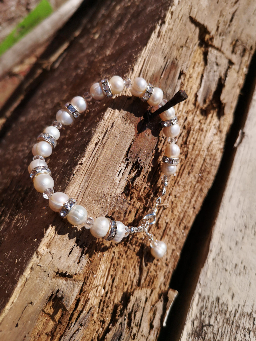 adored, fresh water pearl bracelet