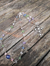 hand made necklace with crystal cross