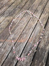 handwired glass beaded necklace