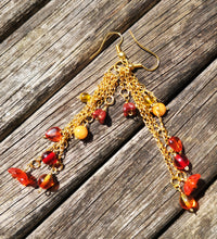 Fiery Cascade earrings