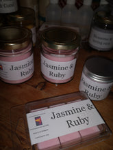 jasmine & ruby scented candles and melts