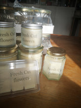 Hand poured soy wax melts and candles, fresh cut flowers,