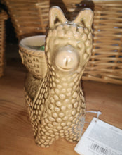 Llama ceramic wax burner for use with wax melts, choose from 3 colours