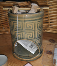Chinese themed ceramic tower & cauldron, burner, for melts or oils