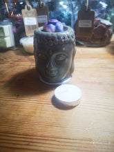 Buddha Head, ceramic wax melt burner, in 2 colours