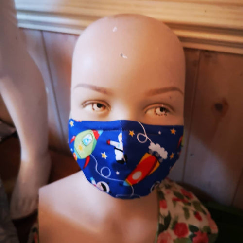 Child's kids face protection, face mask, sneeze stopper Age 5 to 9 approx.