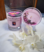 Black Raspberry & Peppercorn hand poured soy wax candle 300ml, 30cl, 10oz, highly scented eco wax