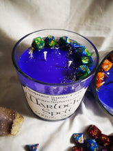Dungeons & Dragons themed candle. dice embedded as a gift, 600ml 21 oz Warlocks Spell