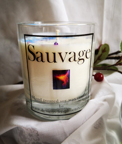 Dior Sauvage, highly scented soy wax candle, 300ml, 10 oz