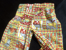 Handmade Toddler upto 18 months trousers, mid weight cotton, elastic waist