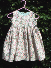 Handmade, Baby girls dress upto 9 months, 100% cotton dolly print, size 49cm chest