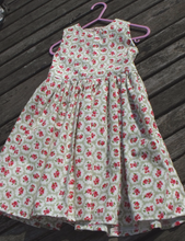 Handmade,  girls dress,100% cotton, floral print, size 53cm chest, age 2 yrs