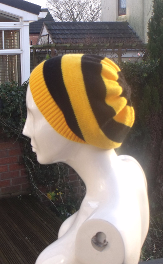 Hufflepuff beanie hat style ,  Harry Potter inspired