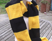 Hufflepuff Scarf, Harry Potter inspired traditional style.
