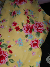 yellow rose fabric