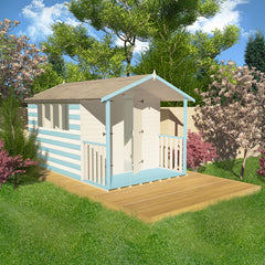 Garden shed to beach hut makeover