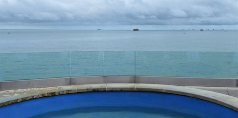 Spitbank Fort view from the Hot Tub