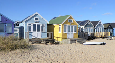 Beach Huts at Hengistbury Head, near Mudeford