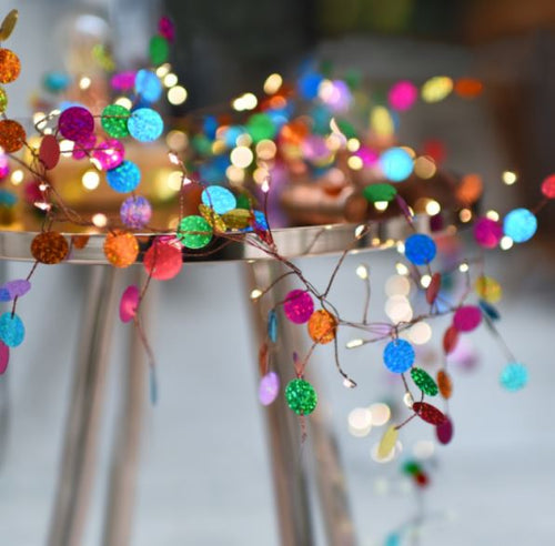 'Confetti' Colourful Light String ~ Mains Powered