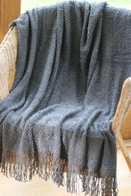 Soft Throw / Blanket ~ Nuthatch ~ Slate or Duck Egg Blue