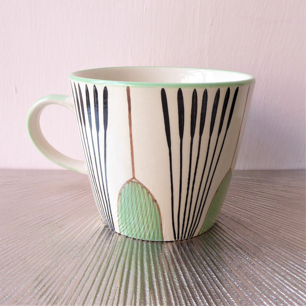 Gisela Graham Tulip Mugs ~ Green or Teal
