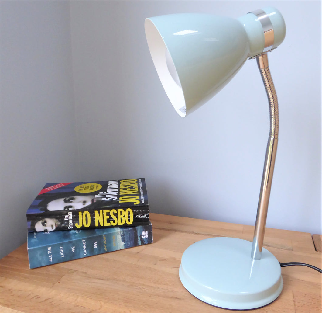 Desk Lamp in Duck Egg Blue by Leitmotiv