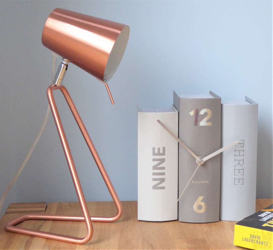 Copper 'Z' Table / Desk Lamp by Leitmotiv