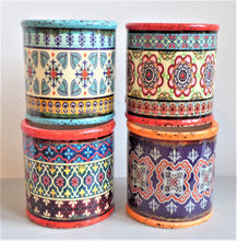 Small Colourful Moroccan-Style Shabby Pots