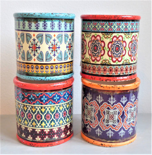 Small Colourful Moroccan-Style Shabby Pots ~ Heaven Sends