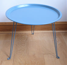 Metal Foldaway Tables ~ Midcentury Modern ~ Green or Blue ~ Present Time