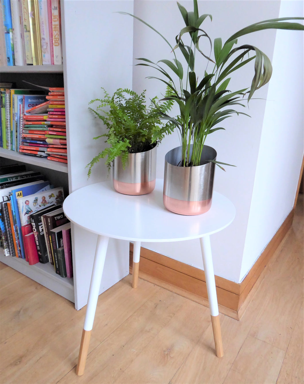 White wooden side tables ~ Present Time (Large)