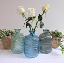 Large Glass Vase ~ 'Elin' ~ designed by Light & Living ~ available in Blue, Grey or Grey-Green