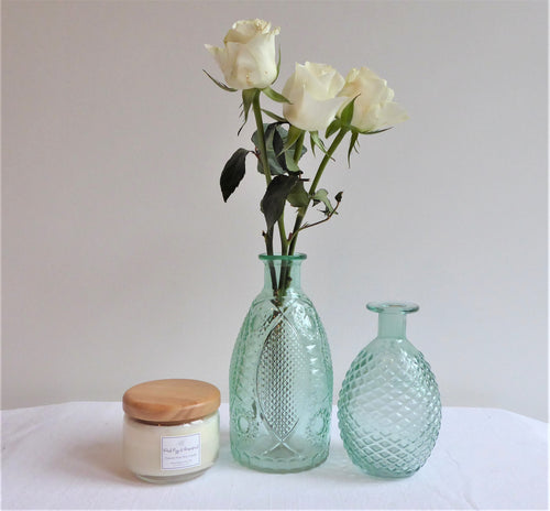 Pale Green Glass Vase ~ 'Maud' ~ by Light & Living (Lanai)