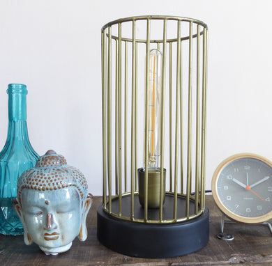 Metal Cage Table Lamp ~ Light & Living ~ Jorim