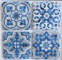 Mediterranean Mosaic Coasters ~ Set of Four ~ Sass & Belle