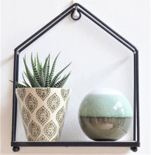 Black iron hanging house shelf by Sass & Belle