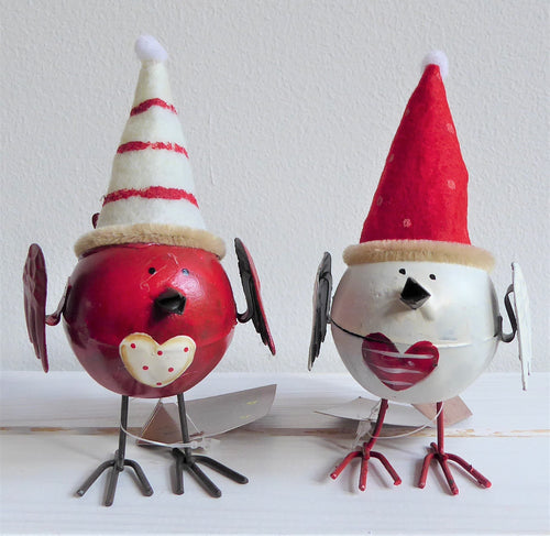Set of two Robins with Hats by Sass & Belle