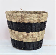 Black Striped Seagrass Basket Planters from Sass & Belle
