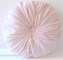 Blush Pink Round Pintuck Cushion by Chickidee