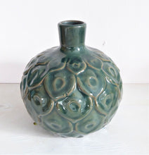 Green Peacock Stem Vase by Grand Illusions
