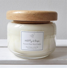 Scented Vegan Candle Jar with Wooden Lid ~ 325ml ~ Seven Fragrances
