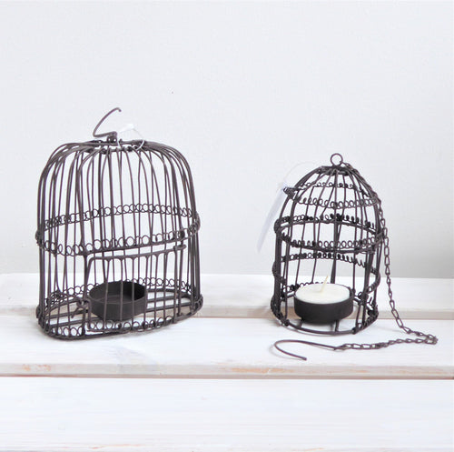Rustic Vintage Metal Birdcage Tealight Holders from Grand Illusions