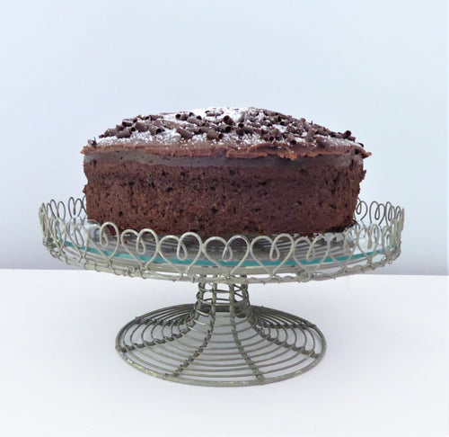 Vintage-Style Wire & Glass Cake Stand from Grand Illusions