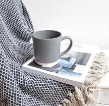 Navy & Natural Recycled Cotton Throw / Blanket by Bloomingville